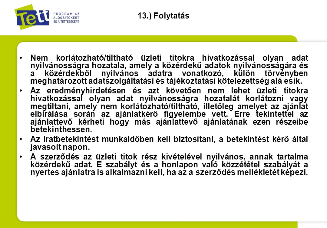 13.) Folytatás