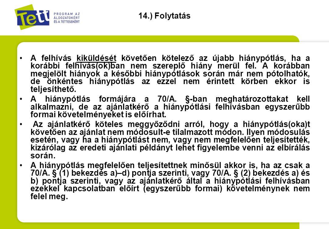 14.) Folytatás