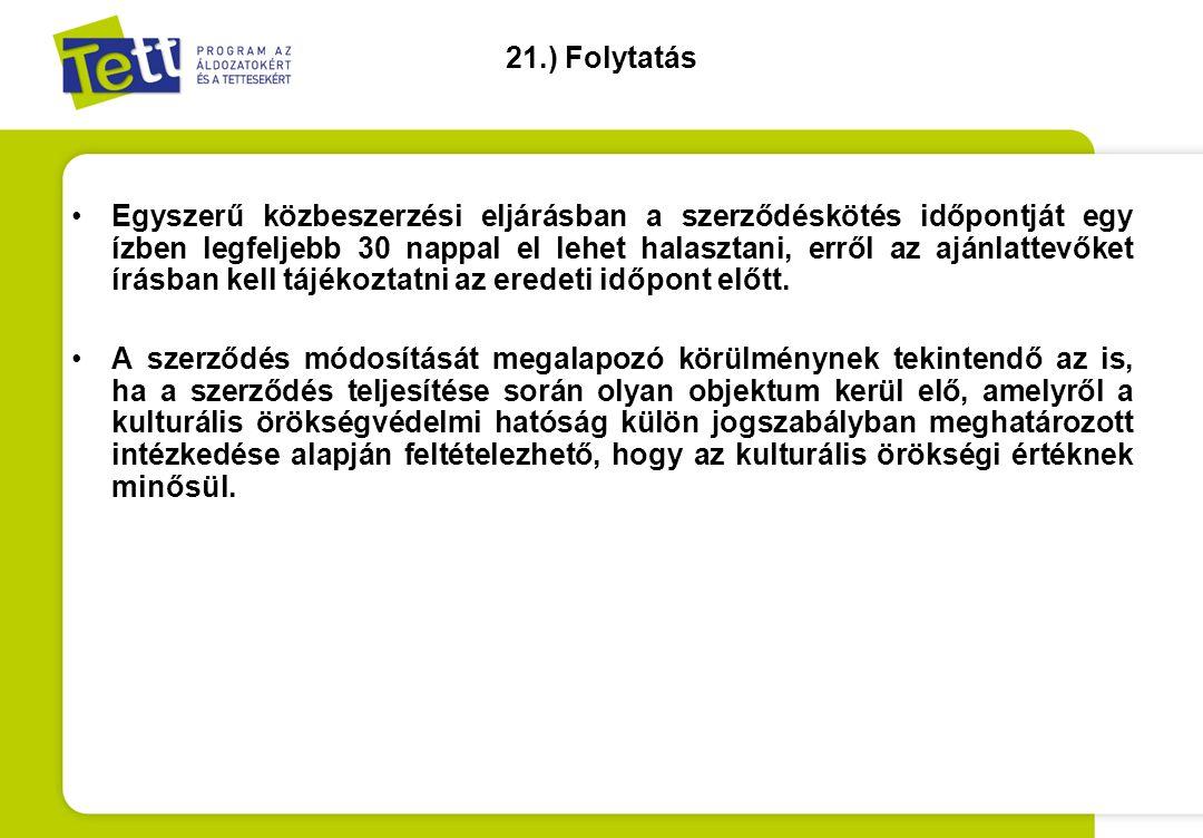 21.) Folytatás