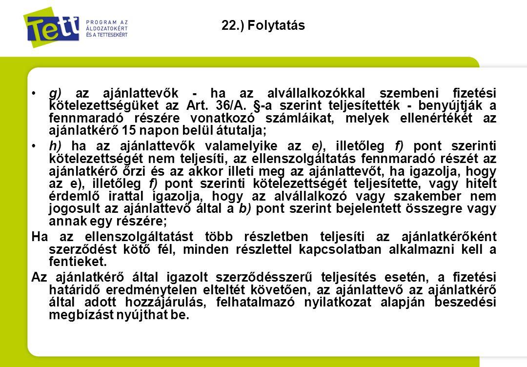 22.) Folytatás