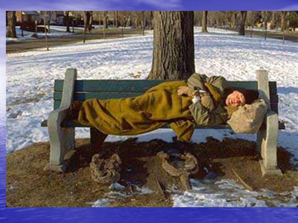 Téli hidegek Feladatok: Hajléktalan szállók felmérése