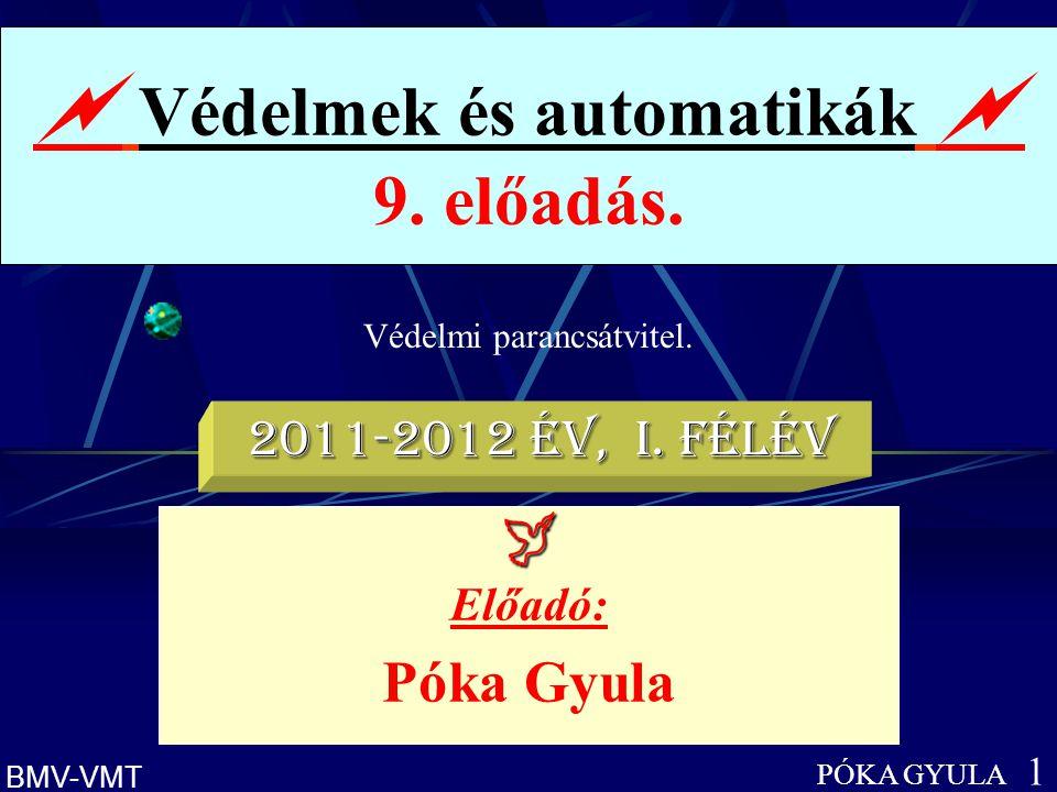  Védelmek és automatikák  9. előadás.