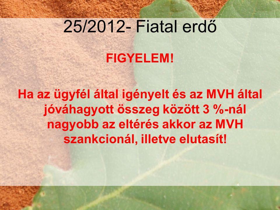25/2012- Fiatal erdő FIGYELEM!