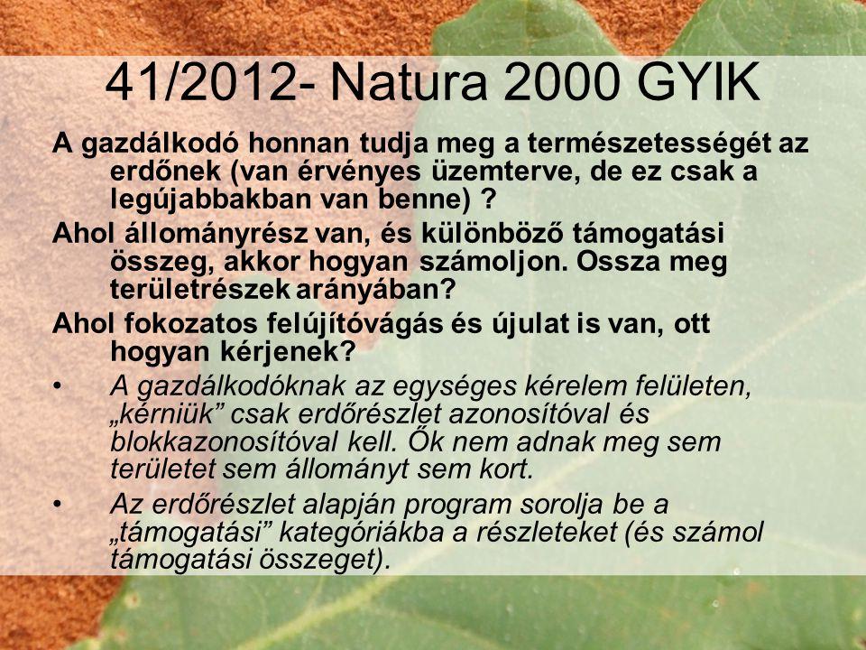 41/2012- Natura 2000 GYIK