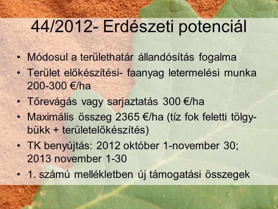 44/2012- Erdészeti potenciál