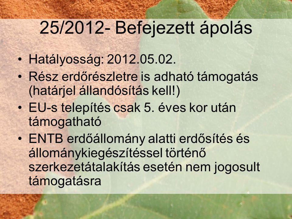 25/2012- Befejezett ápolás Hatályosság: 2012.05.02.