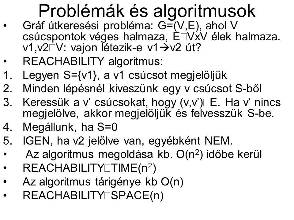 Problémák és algoritmusok