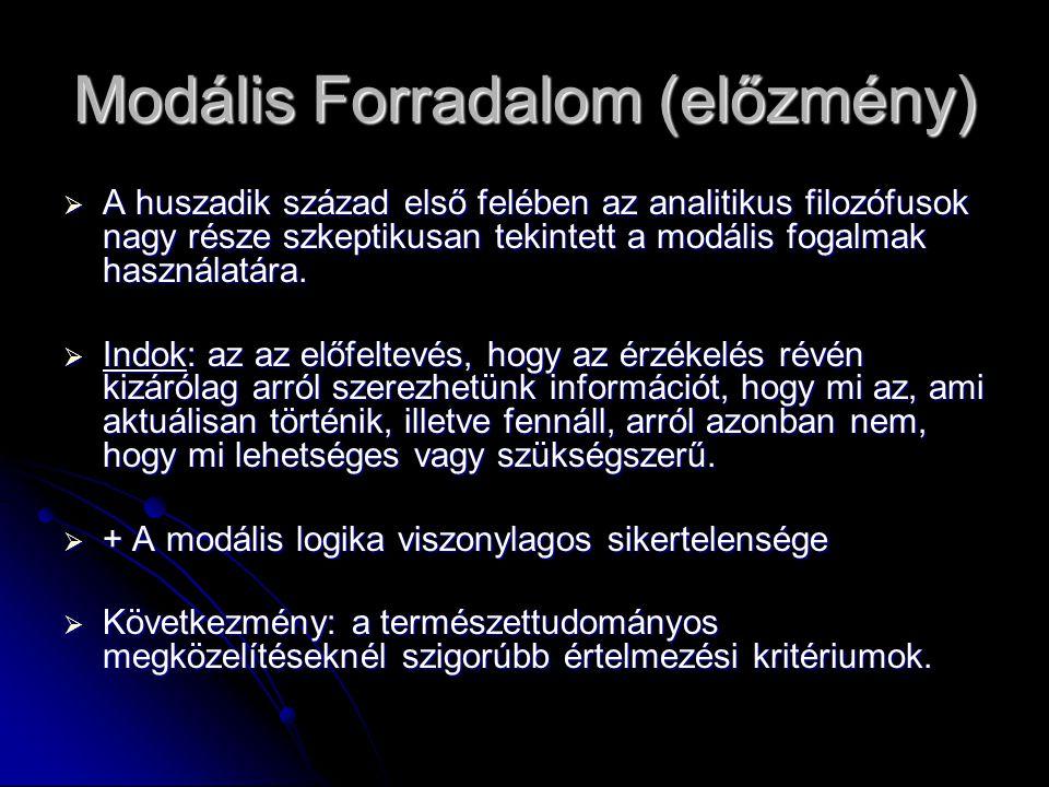 Modális Forradalom (előzmény)