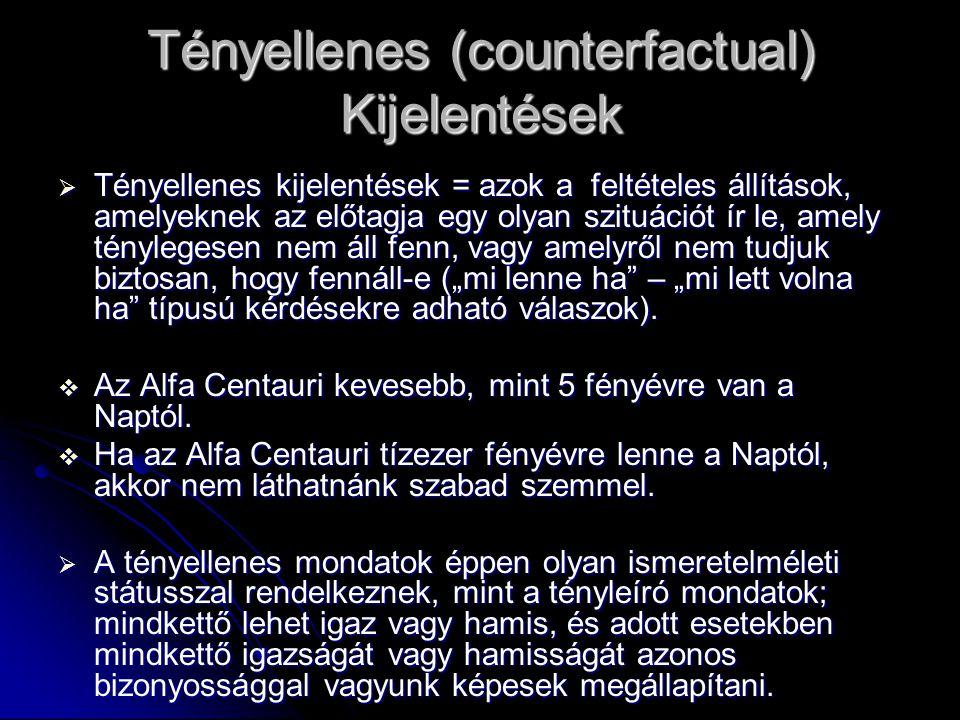Tényellenes (counterfactual) Kijelentések