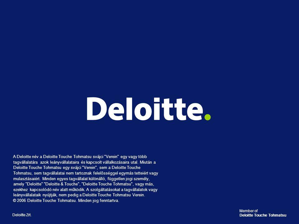© 2006 Deloitte Touche Tohmatsu. Minden jog fenntartva.