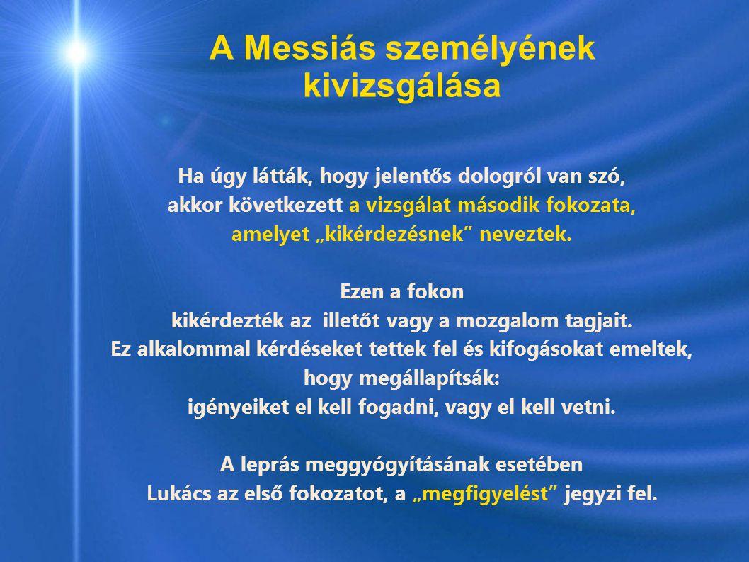A Messiás személyének kivizsgálása