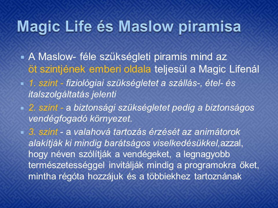 Magic Life és Maslow piramisa