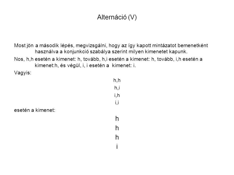 Alternáció (V)