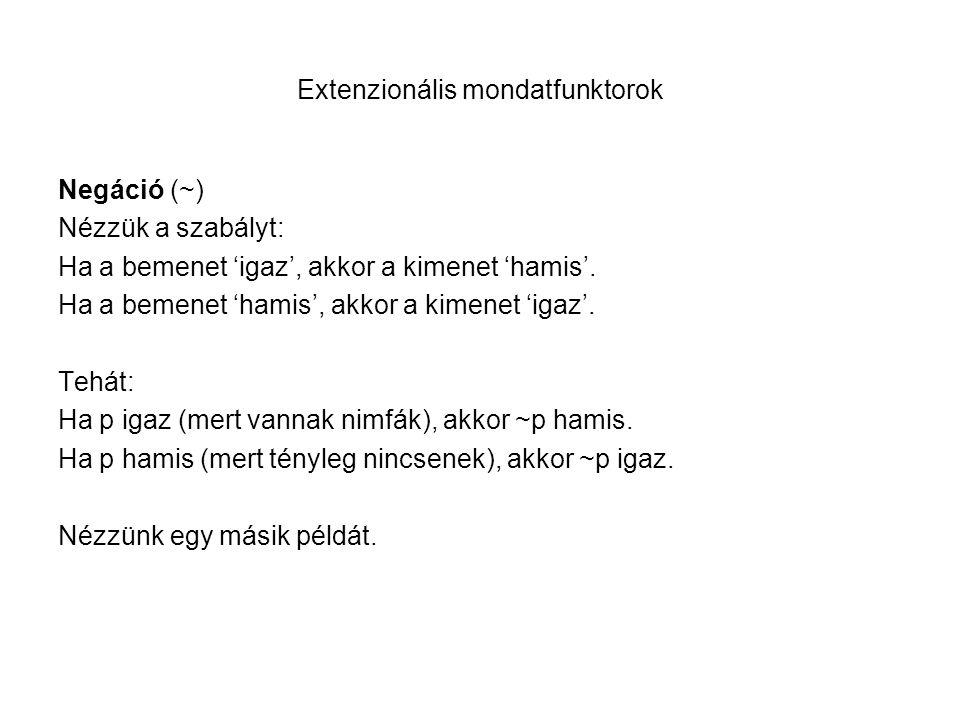 Extenzionális mondatfunktorok