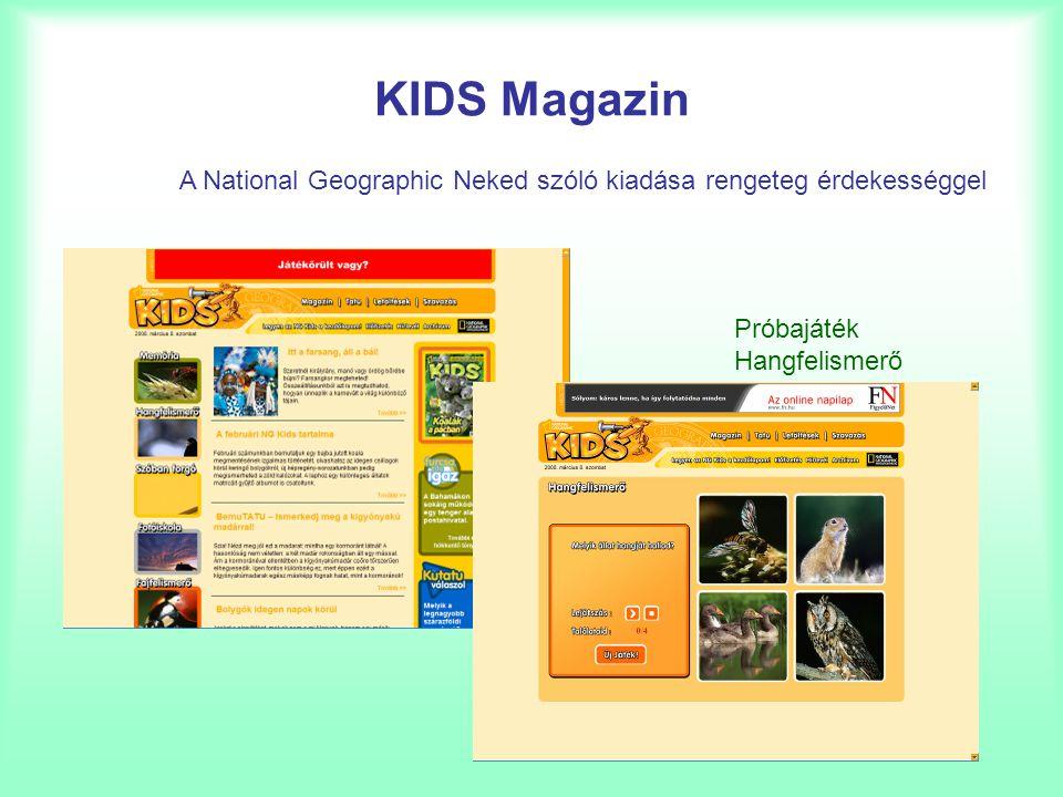 KIDS Magazin A National Geographic Neked szóló kiadása rengeteg érdekességgel.
