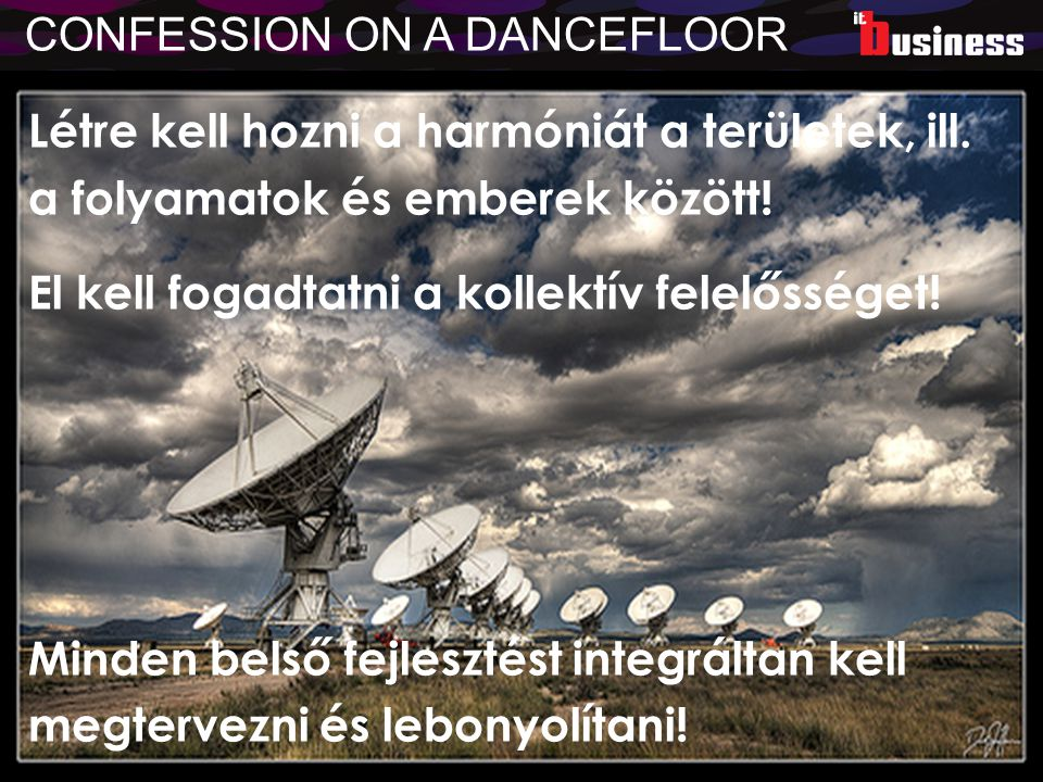 CONFESSION ON A DANCEFLOOR