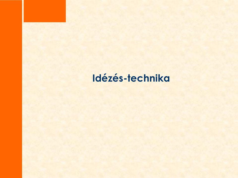 Idézés-technika