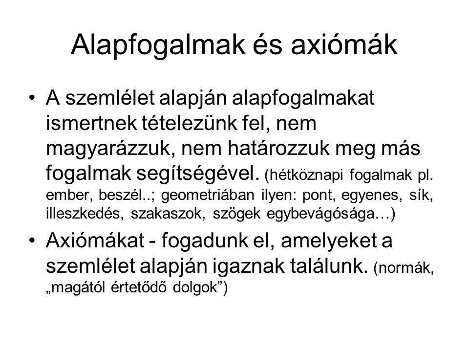 Alapfogalmak és axiómák