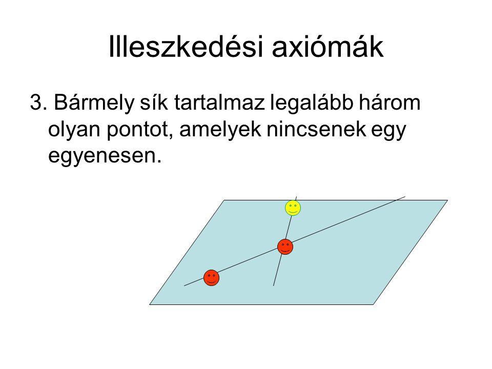 Illeszkedési axiómák 3.