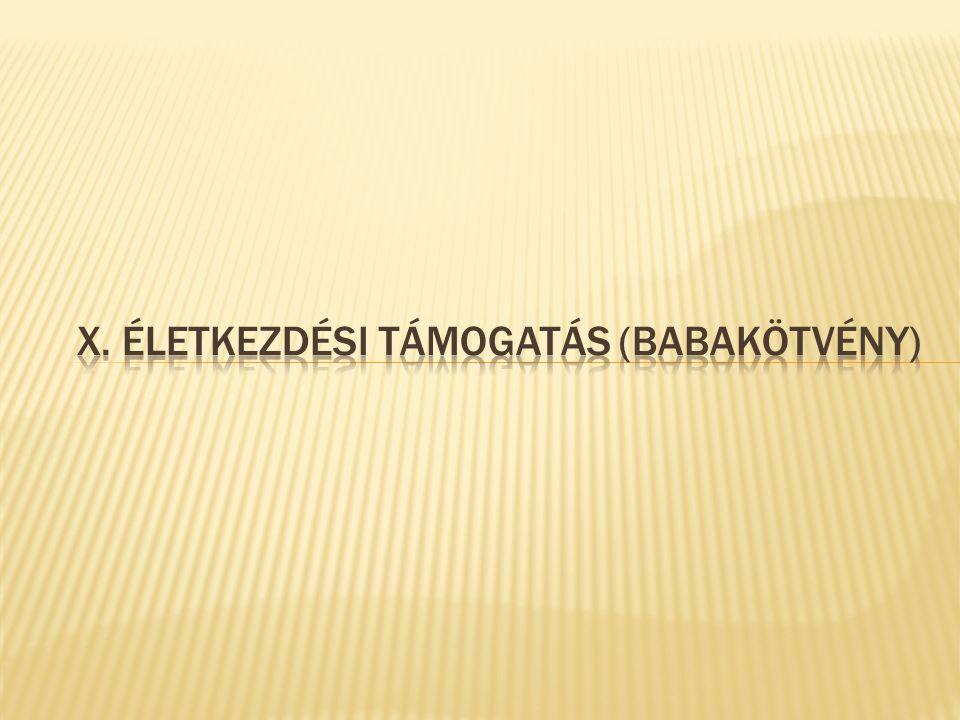 X. ÉLETKEZDÉSI TÁMOGATÁS (BABAKÖTVÉNY)