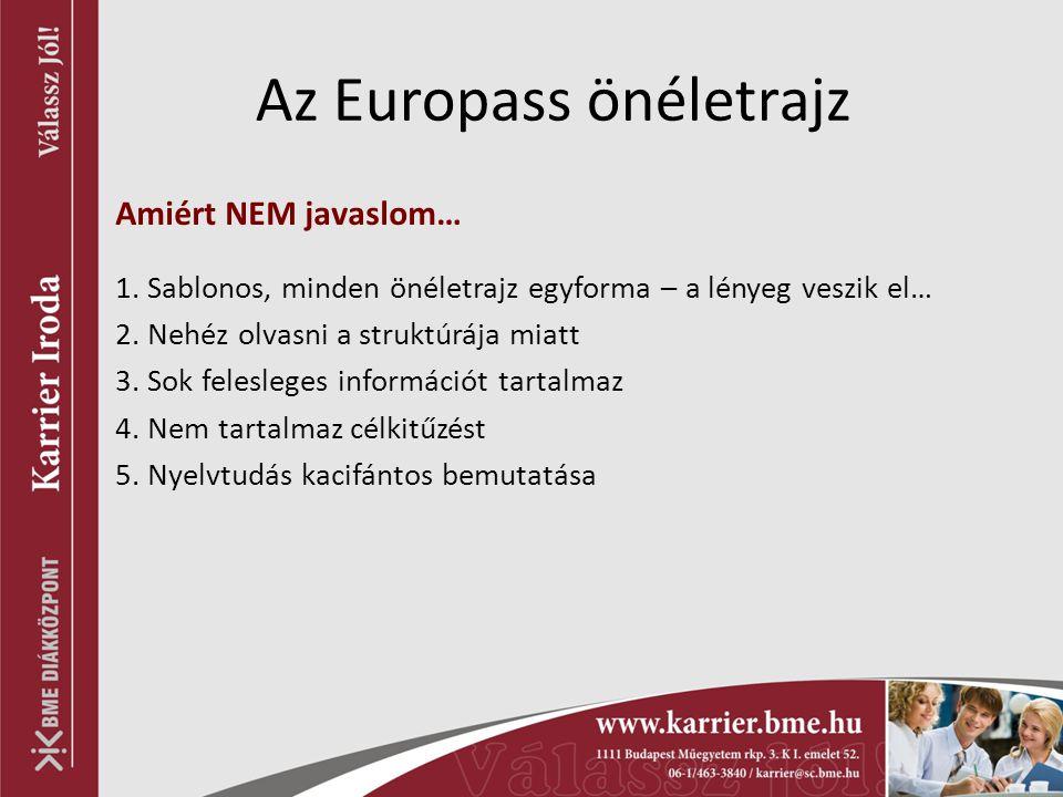 Az Europass önéletrajz