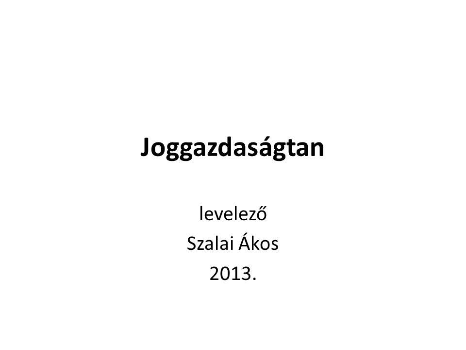 Joggazdaságtan levelező Szalai Ákos 2013.