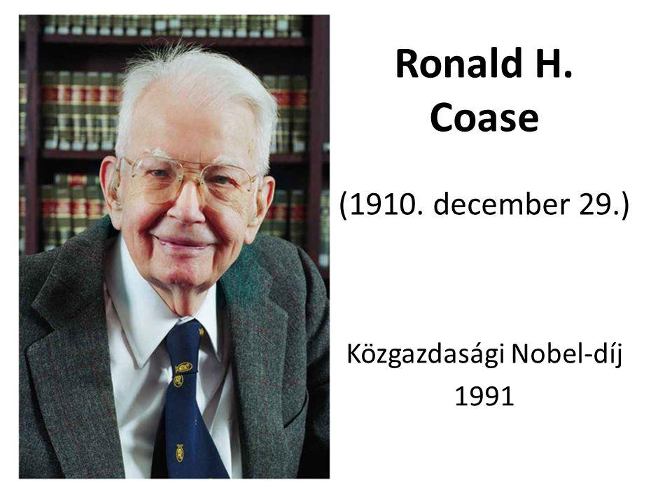 Ronald H. Coase (1910. december 29.)