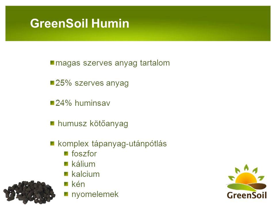 GreenSoil Humin magas szerves anyag tartalom 25% szerves anyag