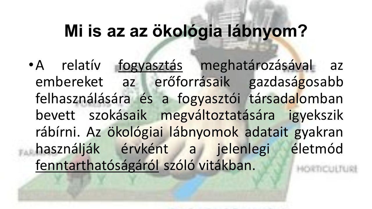 Mi is az az ökológia lábnyom