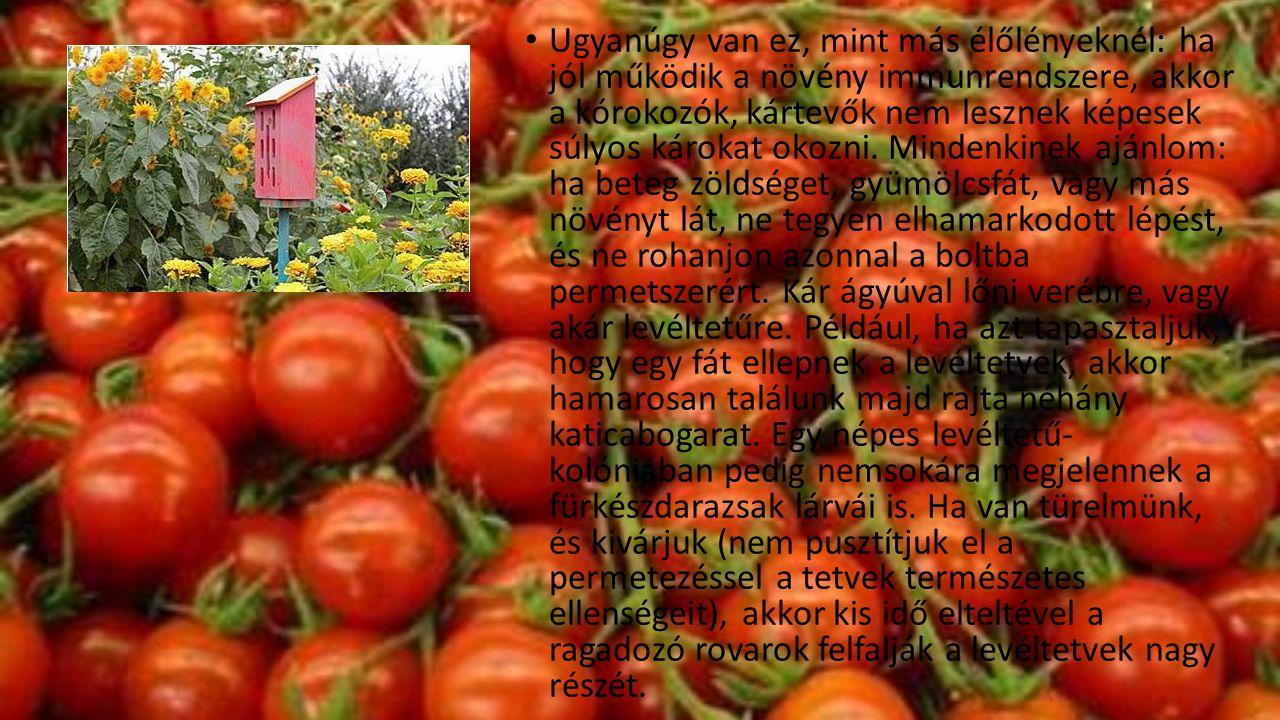 Ugyanúgy van ez, mint más élőlényeknél: ha jól működik a növény immunrendszere, akkor a kórokozók, kártevők nem lesznek képesek súlyos károkat okozni.