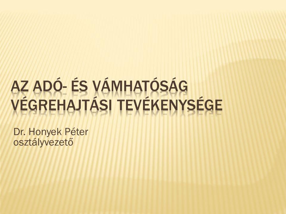 Az adó- és Vámhatóság végrehajtási tevékenysége