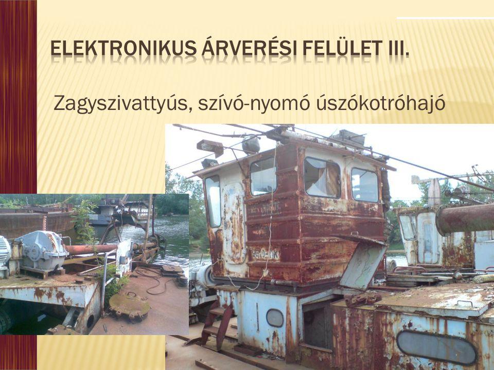 Elektronikus Árverési Felület III.