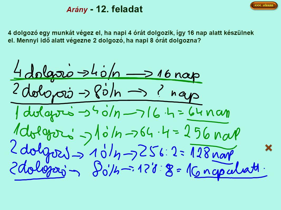 Arány - 12. feladat