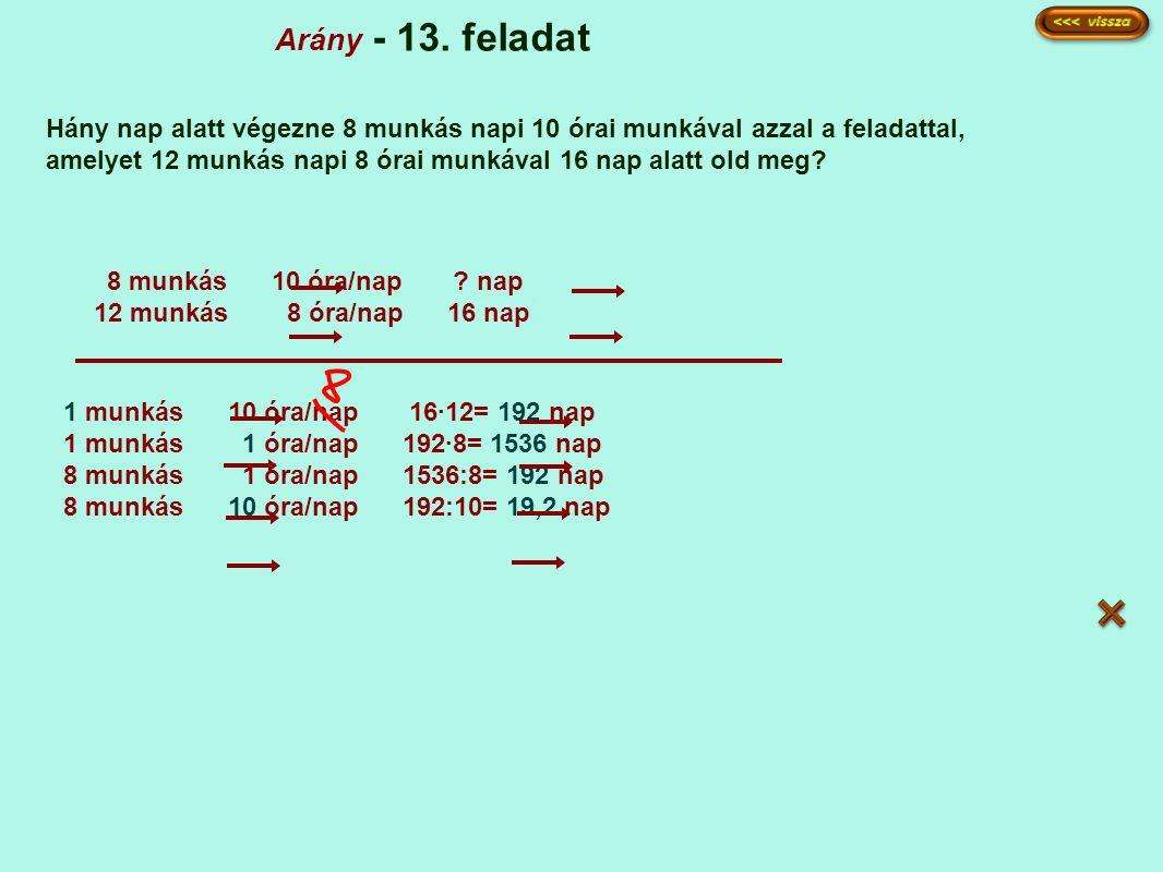 Arány - 13. feladat