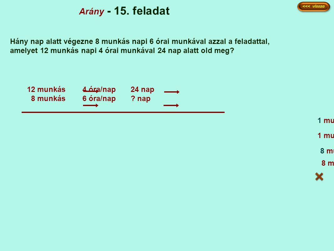 Arány - 15. feladat