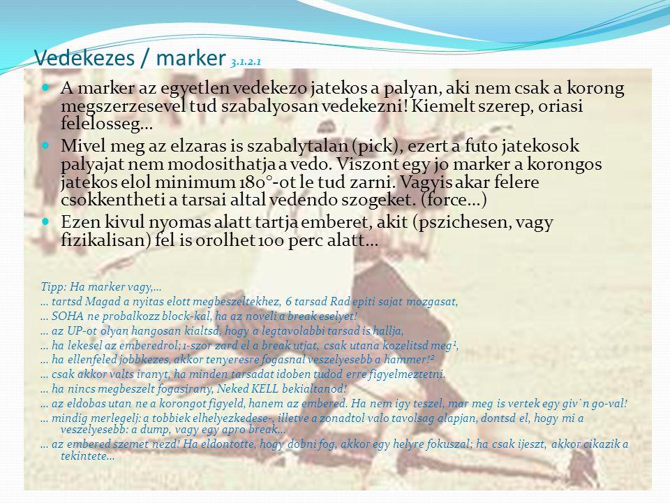 Vedekezes / marker 3.1.2.1