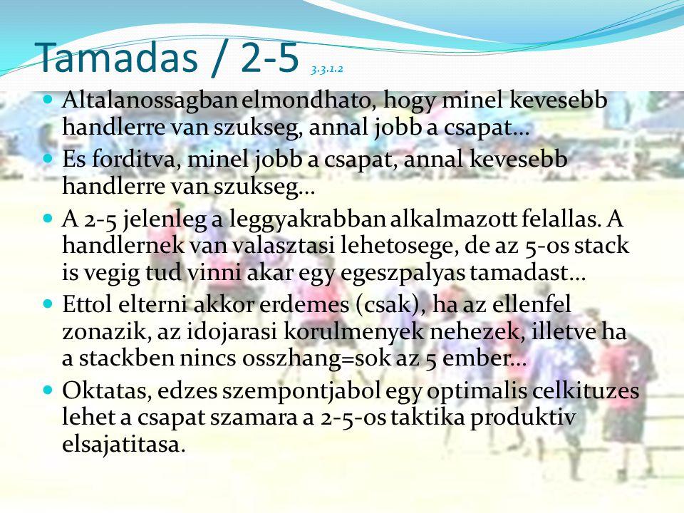 Tamadas / 2-5 3.3.1.2 Altalanossagban elmondhato, hogy minel kevesebb handlerre van szukseg, annal jobb a csapat…