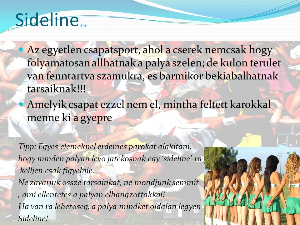 Sideline 3.4
