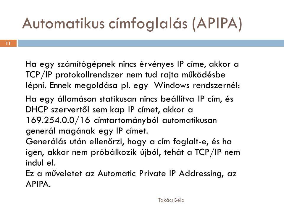 Automatikus címfoglalás (APIPA)