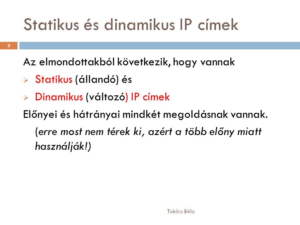 Statikus és dinamikus IP címek