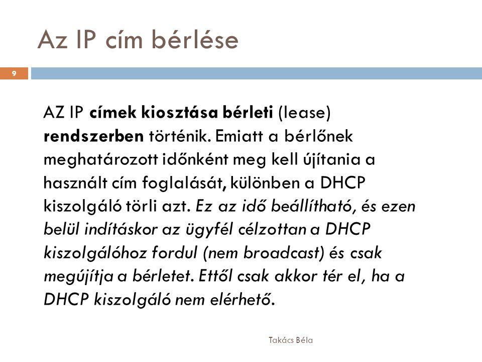 Az IP cím bérlése