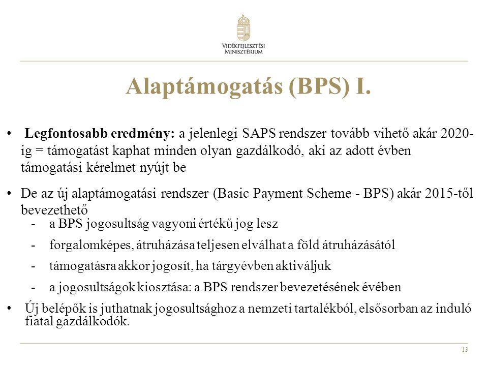 Alaptámogatás (BPS) I.