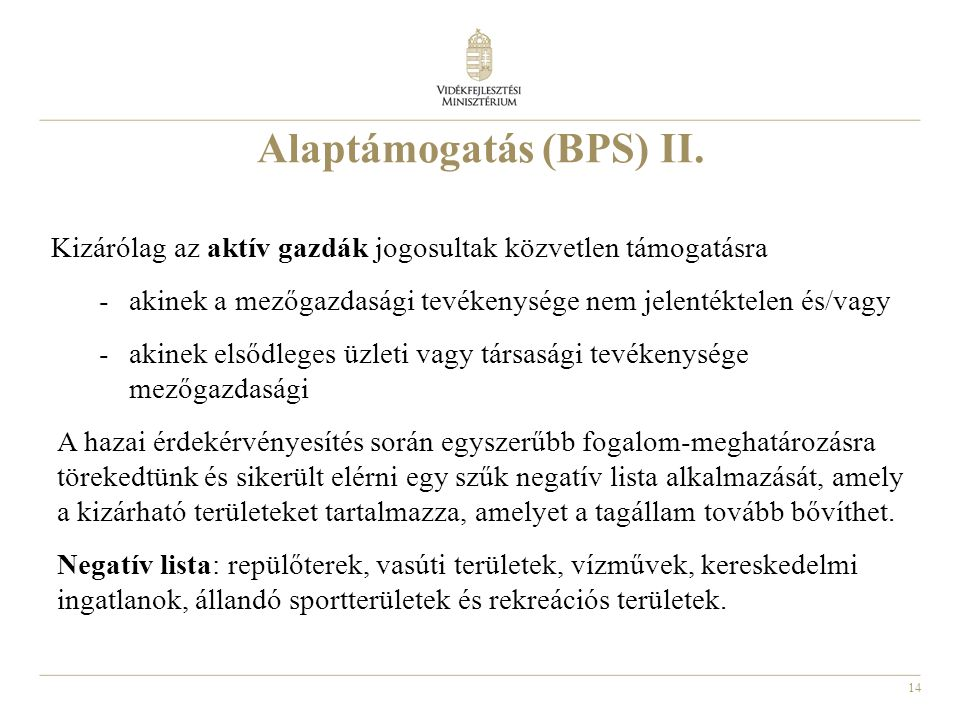Alaptámogatás (BPS) II.