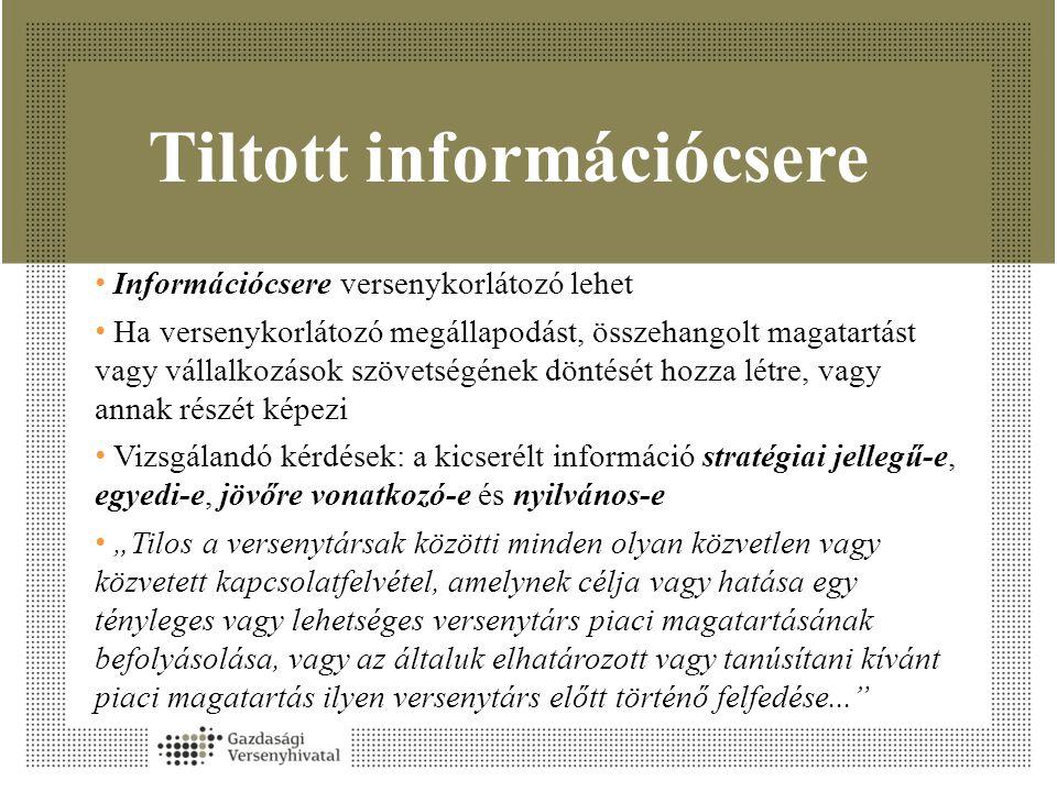 Tiltott információcsere