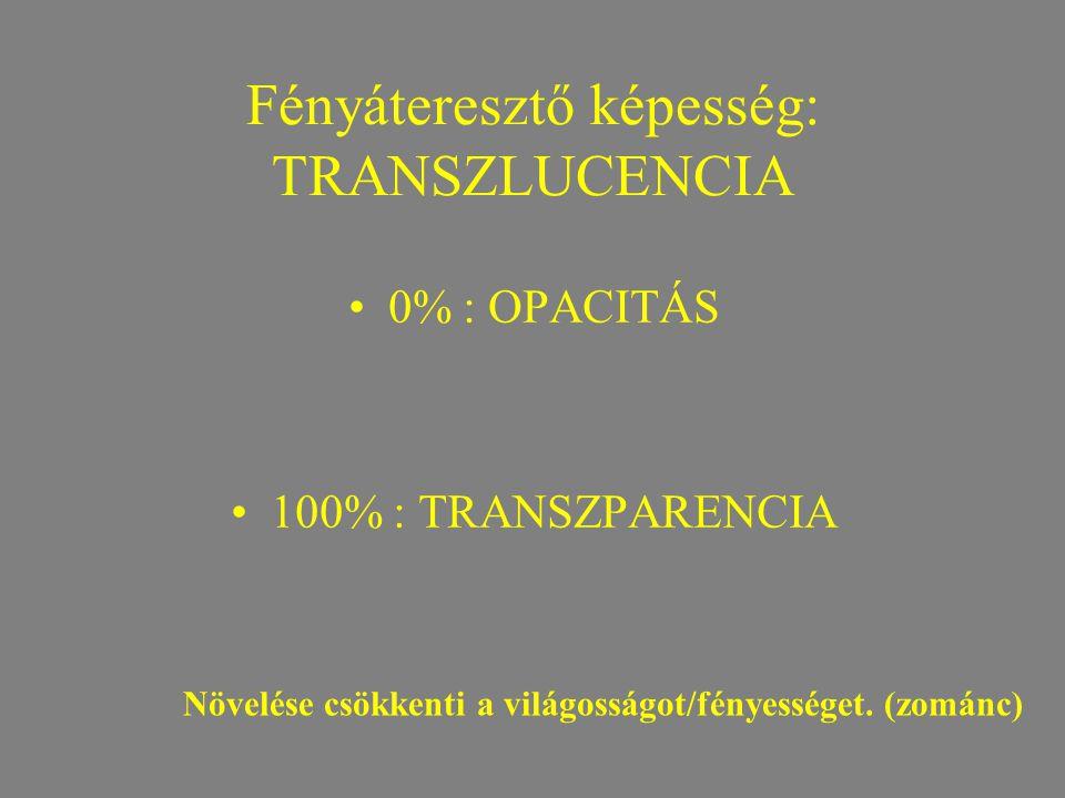 Fényáteresztő képesség: TRANSZLUCENCIA