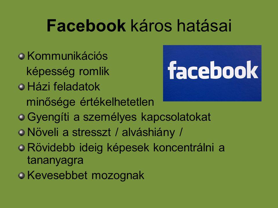 Facebook káros hatásai