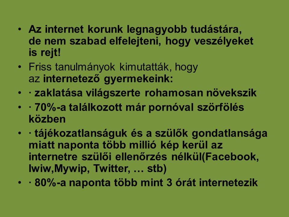 Az internet korunk legnagyobb tudástára, de nem szabad elfelejteni, hogy veszélyeket is rejt!
