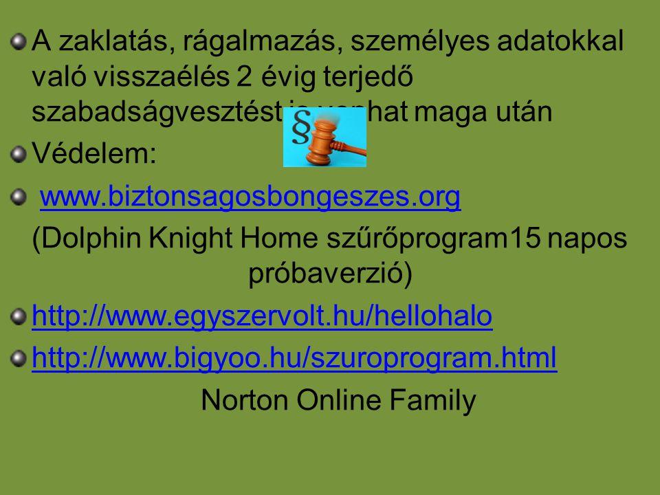 (Dolphin Knight Home szűrőprogram15 napos próbaverzió)