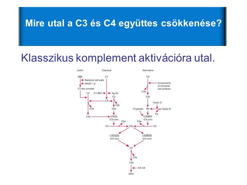Mire utal a C3 és C4 együttes csökkenése