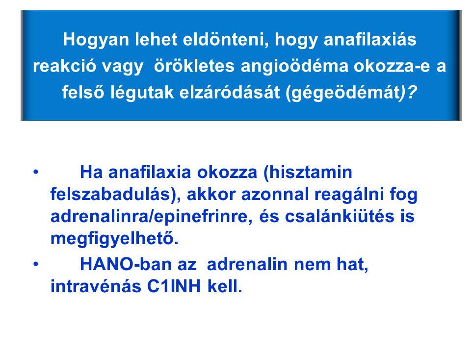 Hogyan lehet eldönteni, hogy anafilaxiás reakció vagy örökletes angioödéma okozza-e a felső légutak elzáródását (gégeödémát)